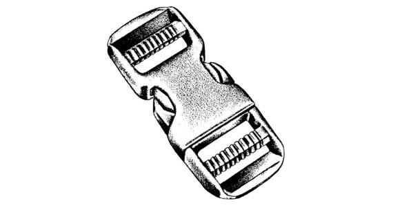 NM Steckschließe dual, 50 mm, 1 St. KARTE